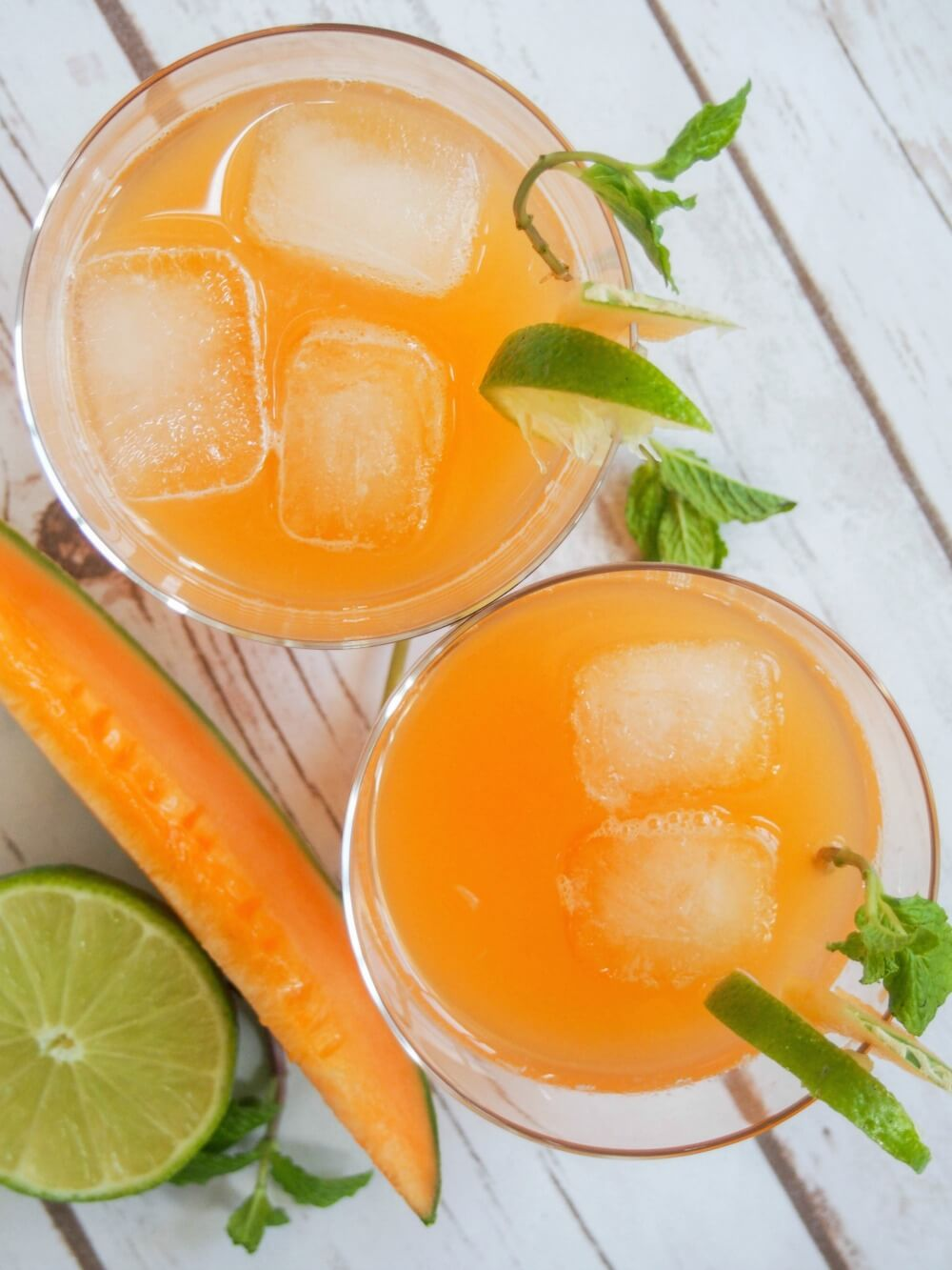 Cantaloupe agua fresca is easy to make and incredibly refreshing. Light and gently fruity, it's a family-friendly drink perfect for a warm day. All you need is cantaloupe, water and lime.