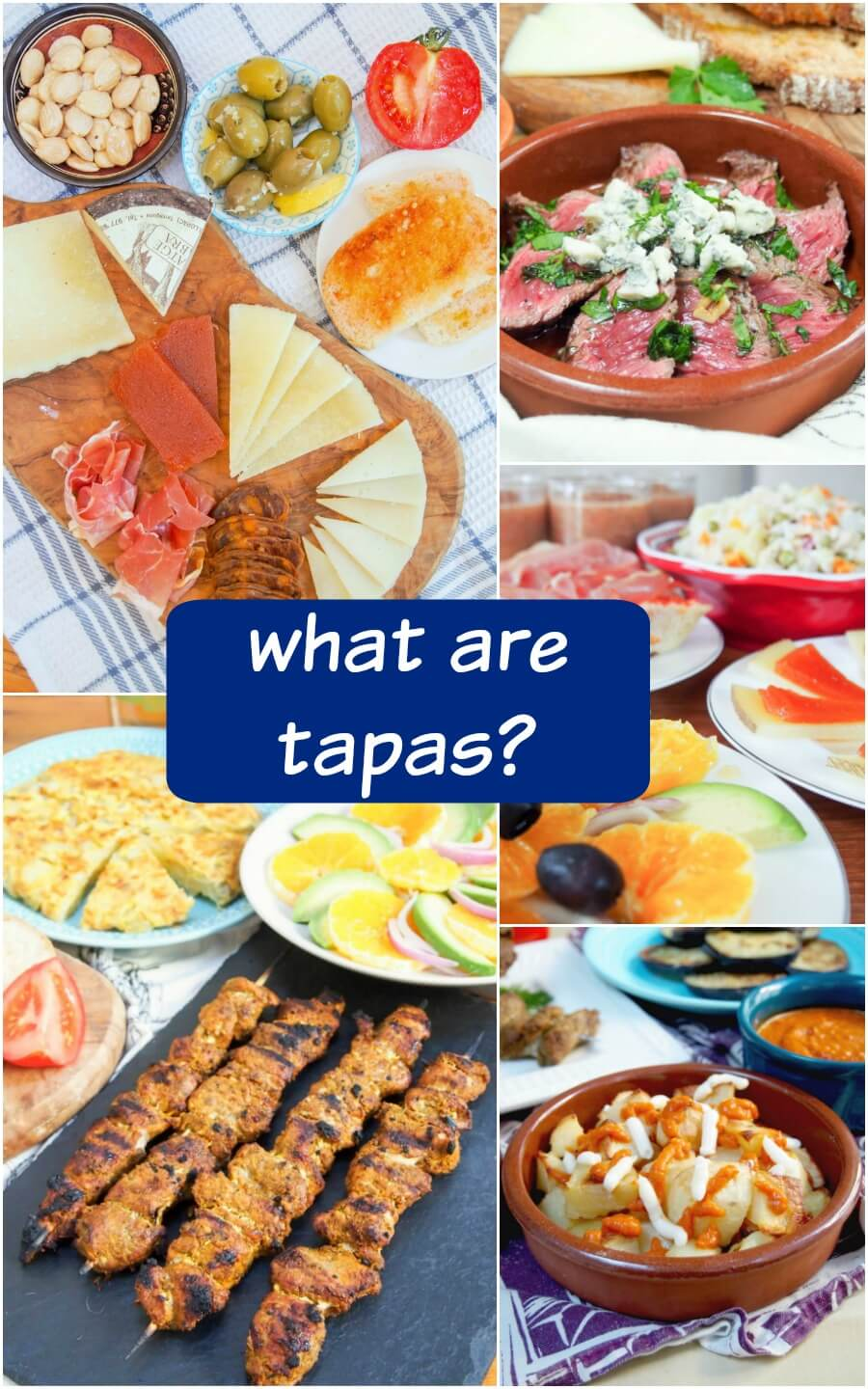 You've probably heard the name, but what are tapas? Take a look at this easy-to-follow guide to different types of Spanish tapas and get some classic examples to look for or make at home! Many of them are easier than you might think, and tapas are perfect for entertaining.