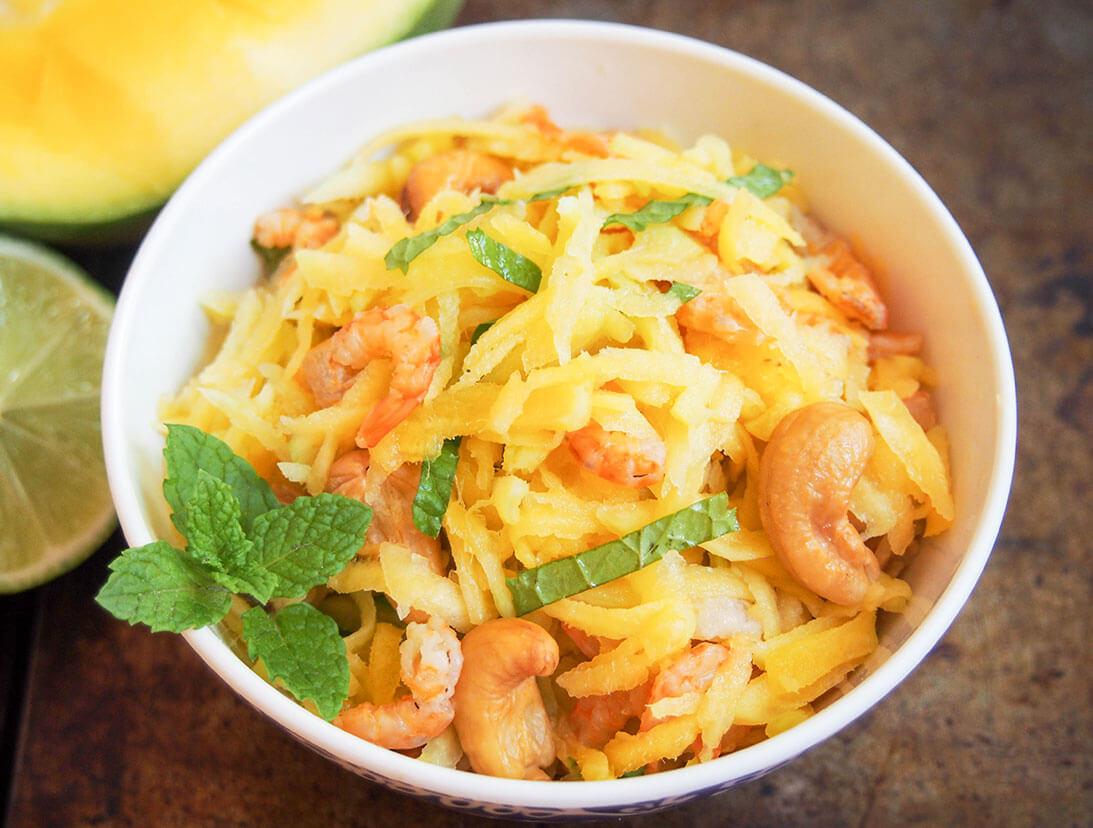 Cambodian green mango salad