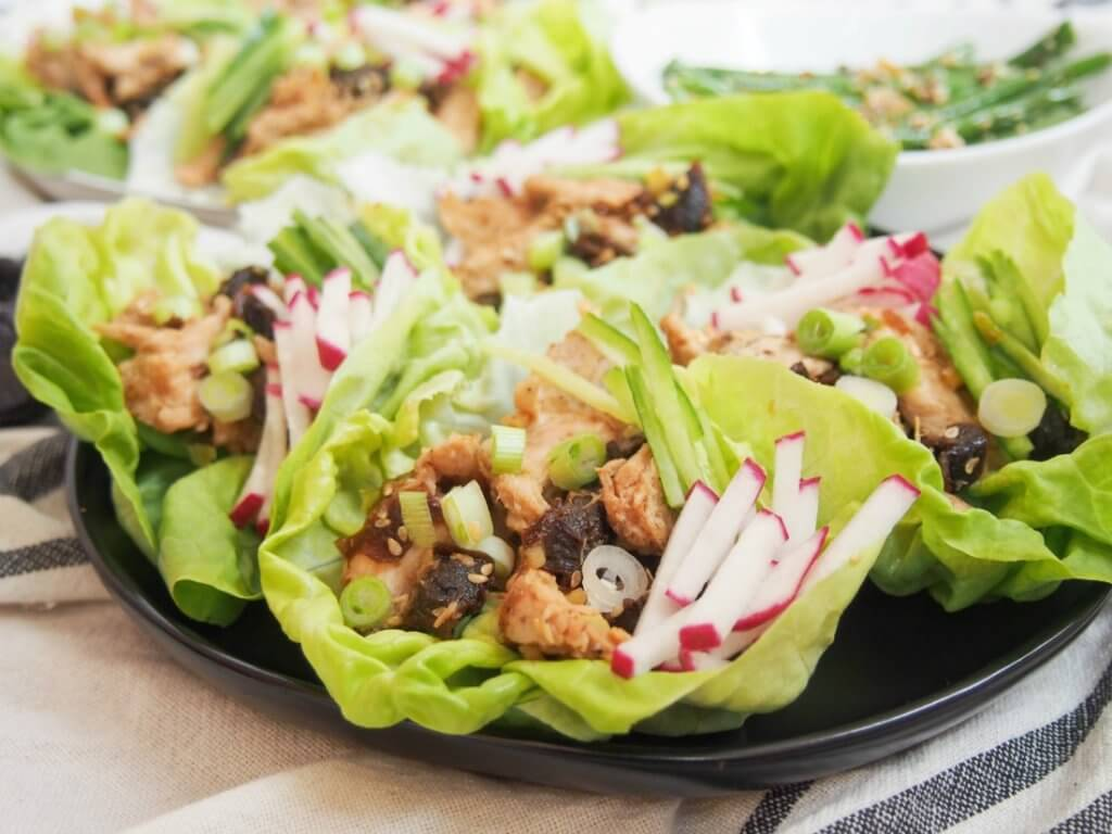 Trying Chef'd meal kit: Asian Chicken and California Prunes Lettuce Wraps