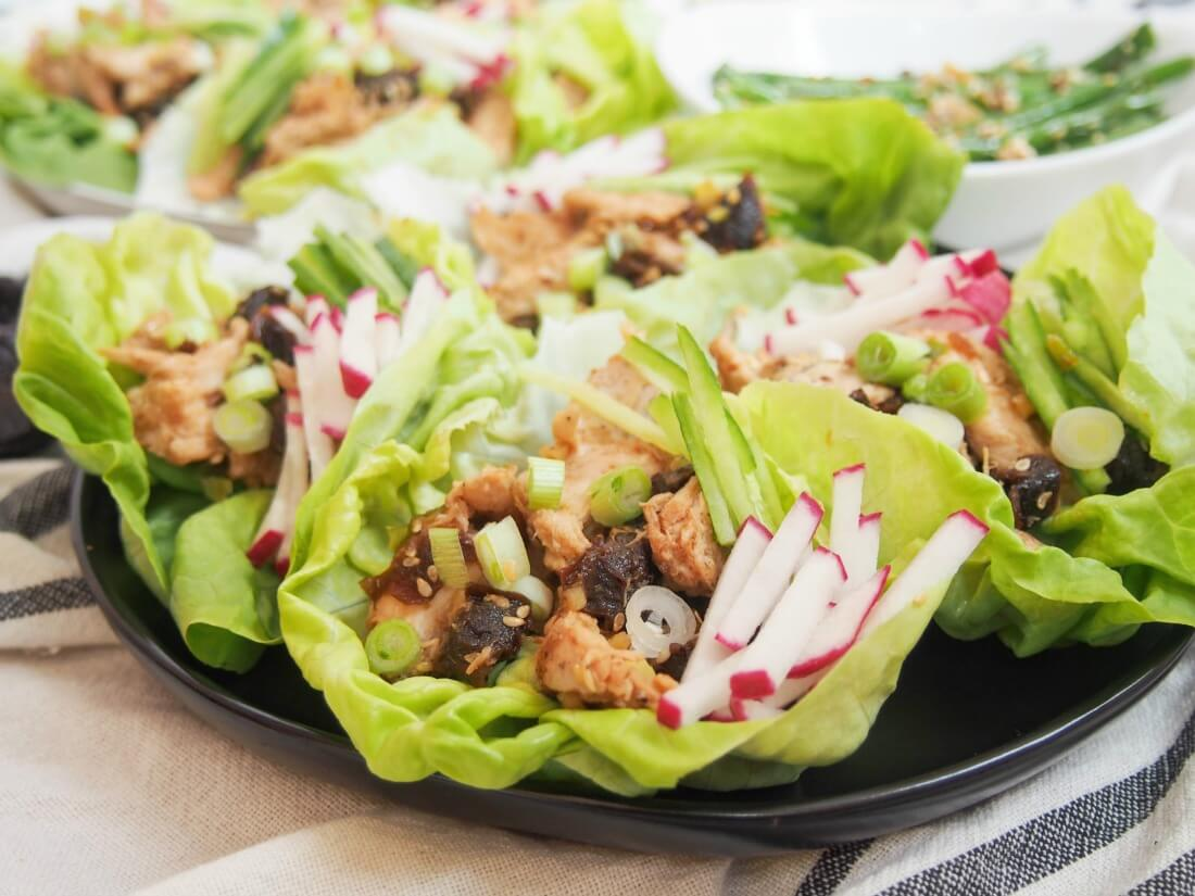 Chef'd kit: Asian chicken and California prunes lettuce wraps