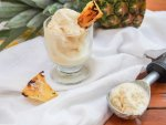grilled pineapple ice cream