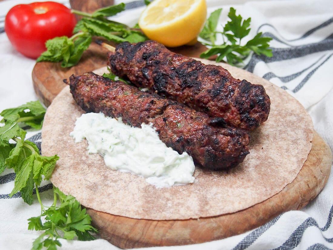 Lamb kofte (köfte) with cacik