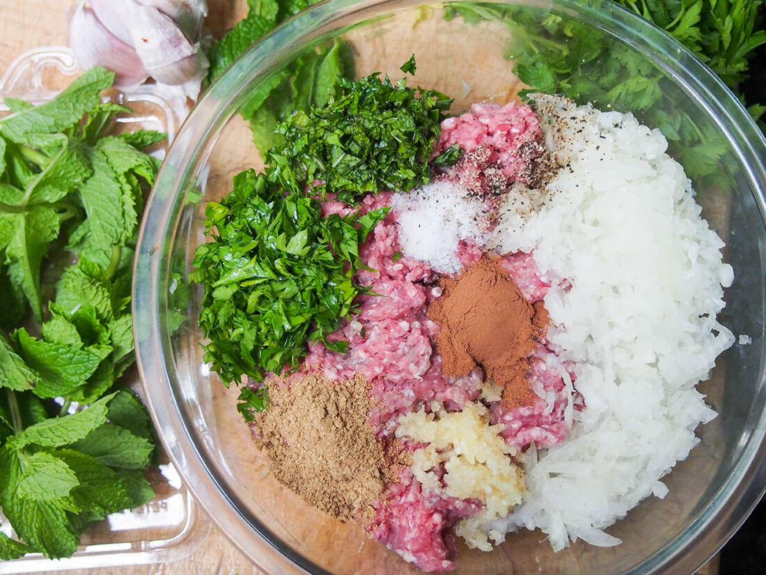 ingredients for Lamb kofte (köfte)