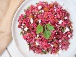raw beet quinoa salad