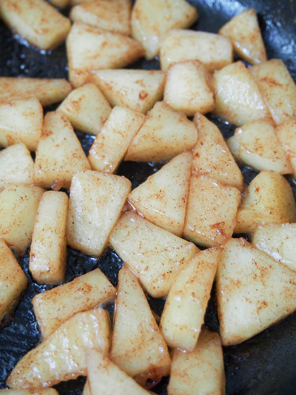 cooking apples for apple crepes