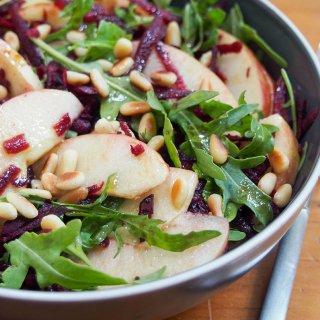 beet apple salad with maple vinaigrette