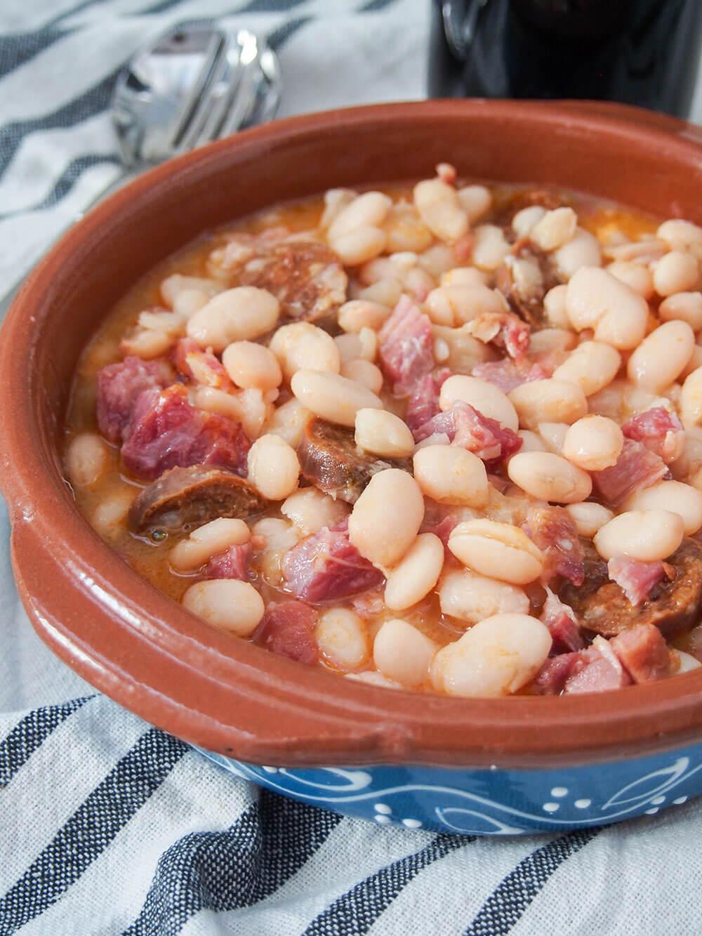 Fabada Asturiana - Asturian white bean stew