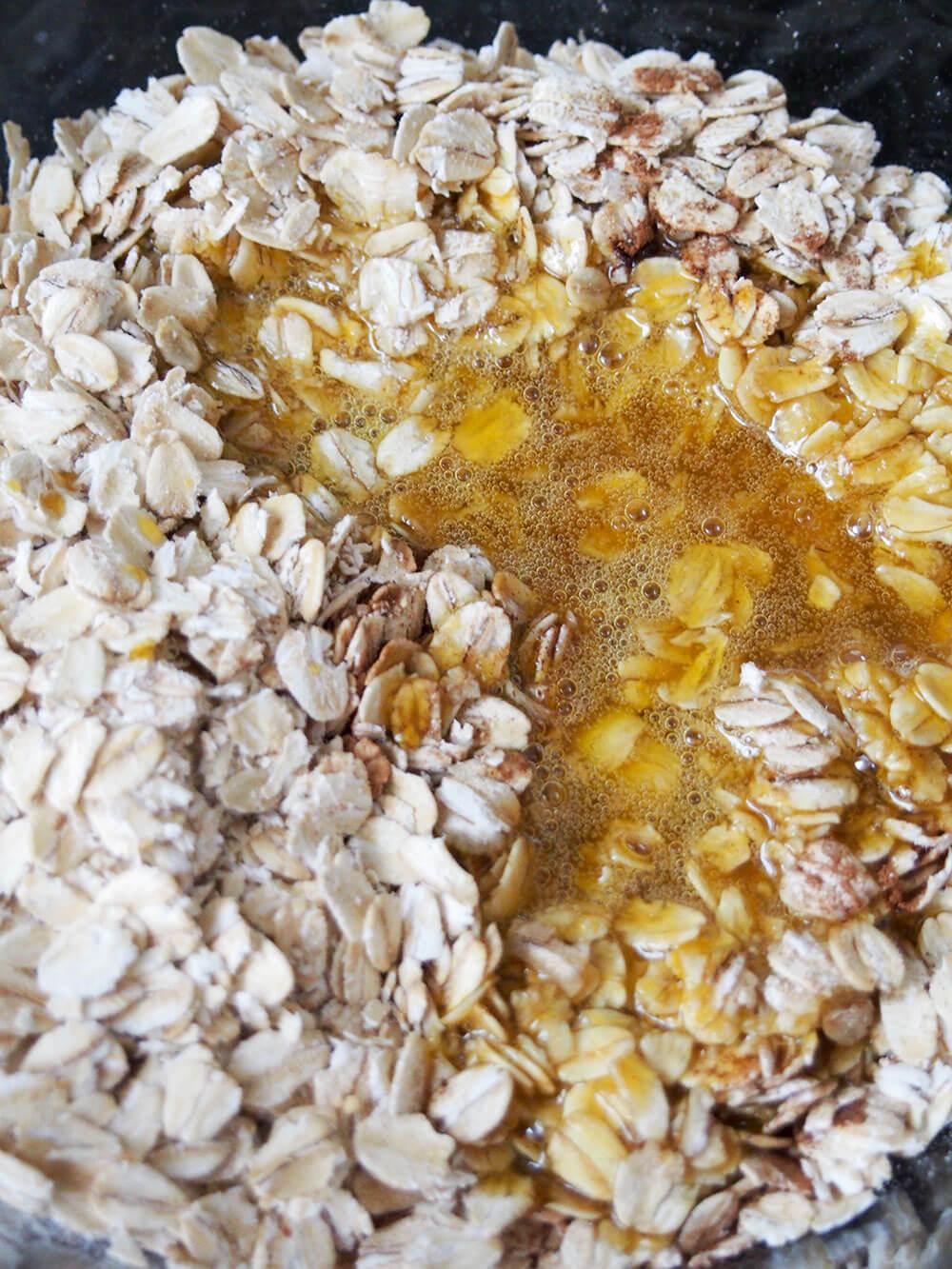 adding oats for no bake pumpkin cookies