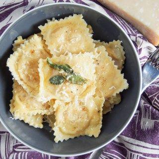 pumpkin ravioli tortelli di zucca