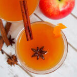 spiked mulled apple cider from overhead
