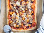 fall pizza with sausage and squash