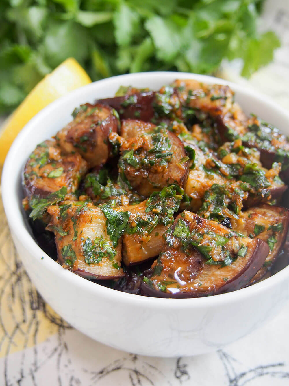 Moroccan eggplant with chermoula