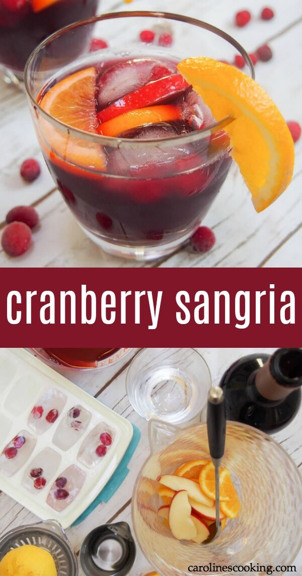 Every party needs a signature drink, and this Cranberry Sangria is perfect! This easy cocktail is light, with a great flavor, and easy to make for a crowd. You can make it ahead or mix it up quickly when you need it. Get the recipe as well as tips and ideas for a drinks station. AD