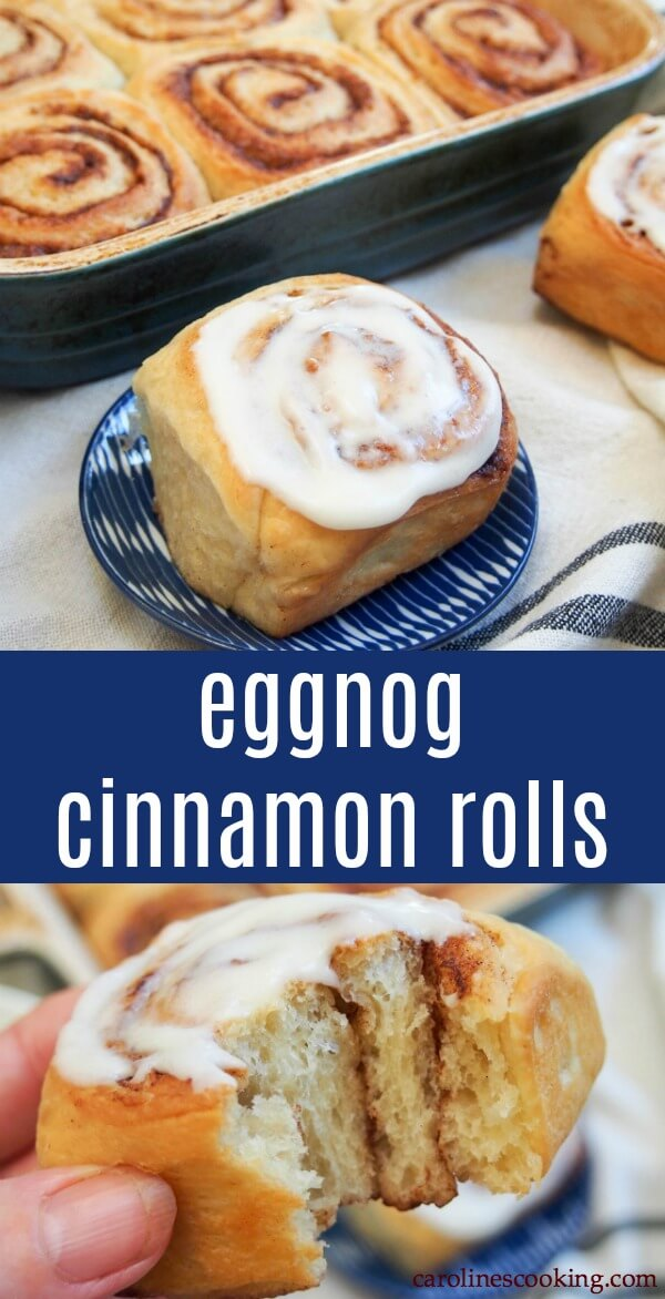 Warmly spiced, pillowy soft bites of tastiness, these eggnog cinnamon rolls are just begging to be eaten. They're the perfect addition to any brunch or celebration. Soft, rich and with a wonderful flavor. They'll be your new favorite cinnamon roll. #sponsored #cinnamonroll #eggnog #HPHoodEats #HoodPartner #Wildfire451