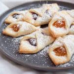 plate of kolachy cookies
