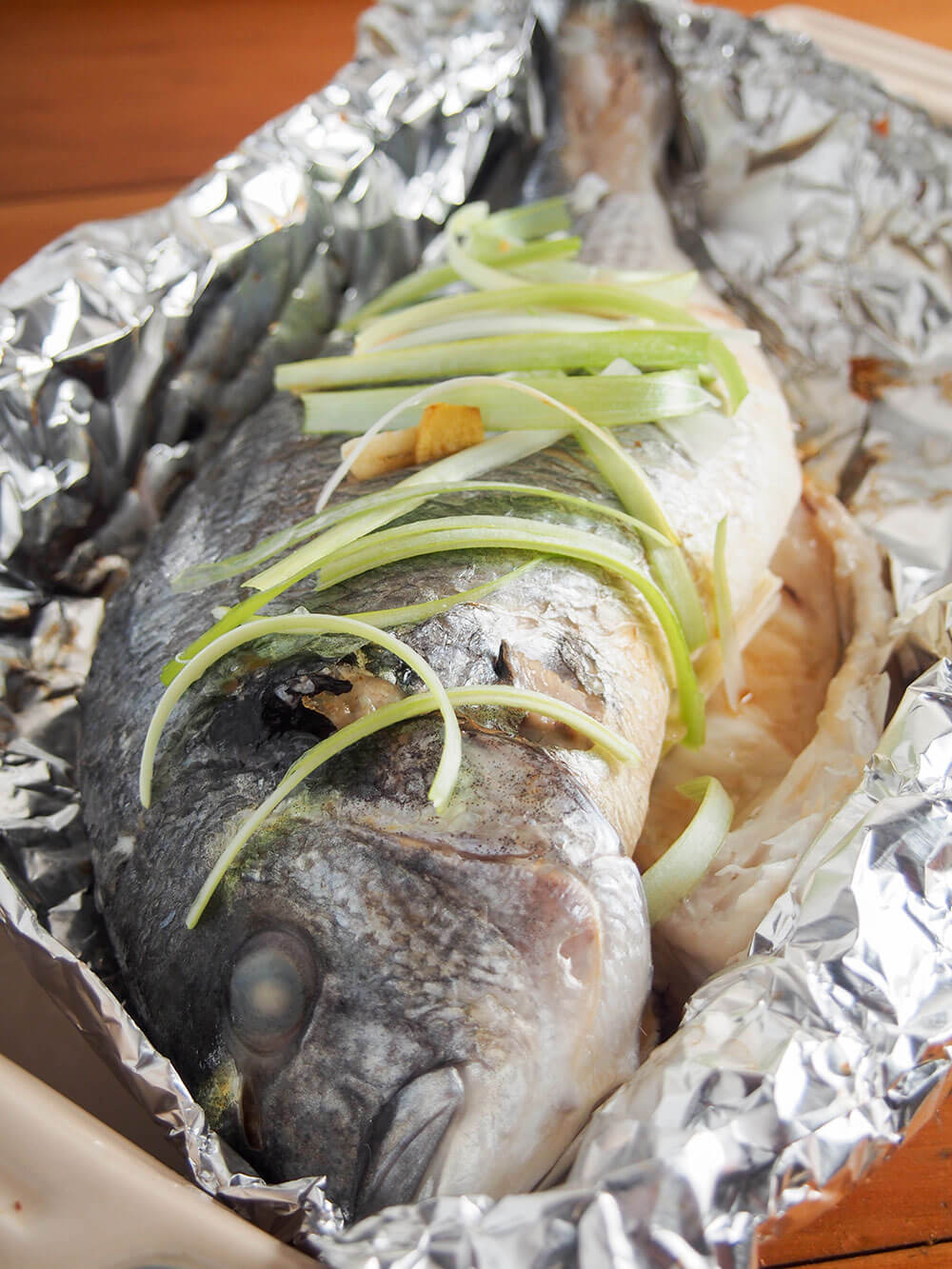 Chinese oven steamed fish out oven