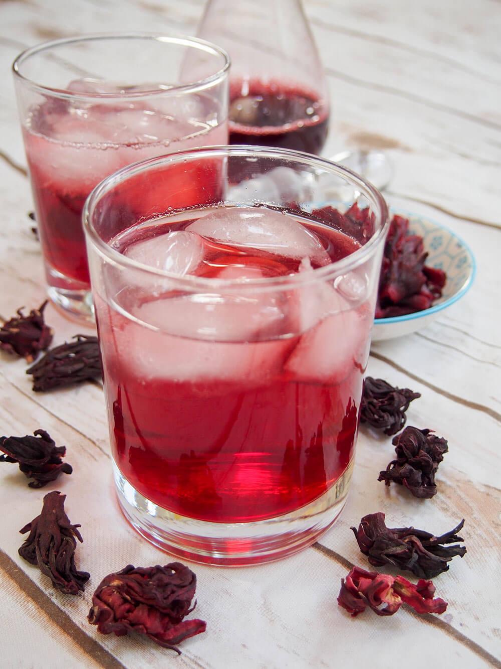 Agua De Jamaica Hibiscus Tea Carolines Cooking