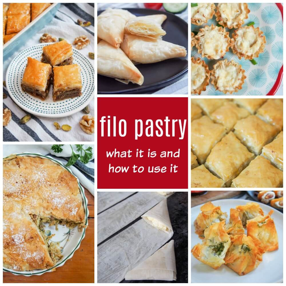 Filo pastry: what it is and how to use it, examples of filo in use
