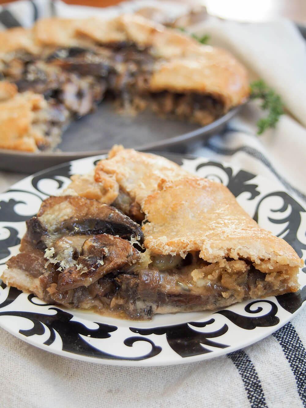 mushroom galette slice