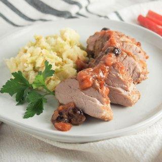 pork tenderloin with rhubarb chutney