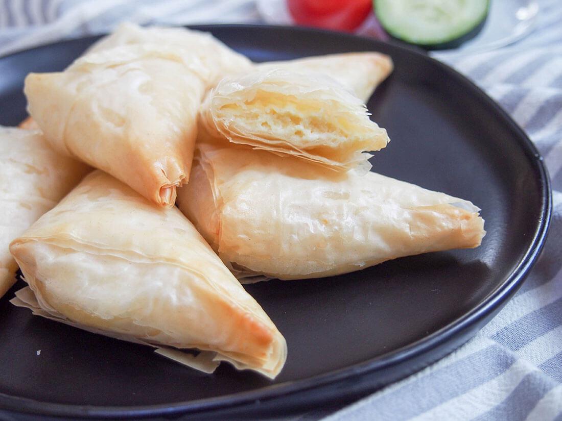 tiropita Greek cheese pastries