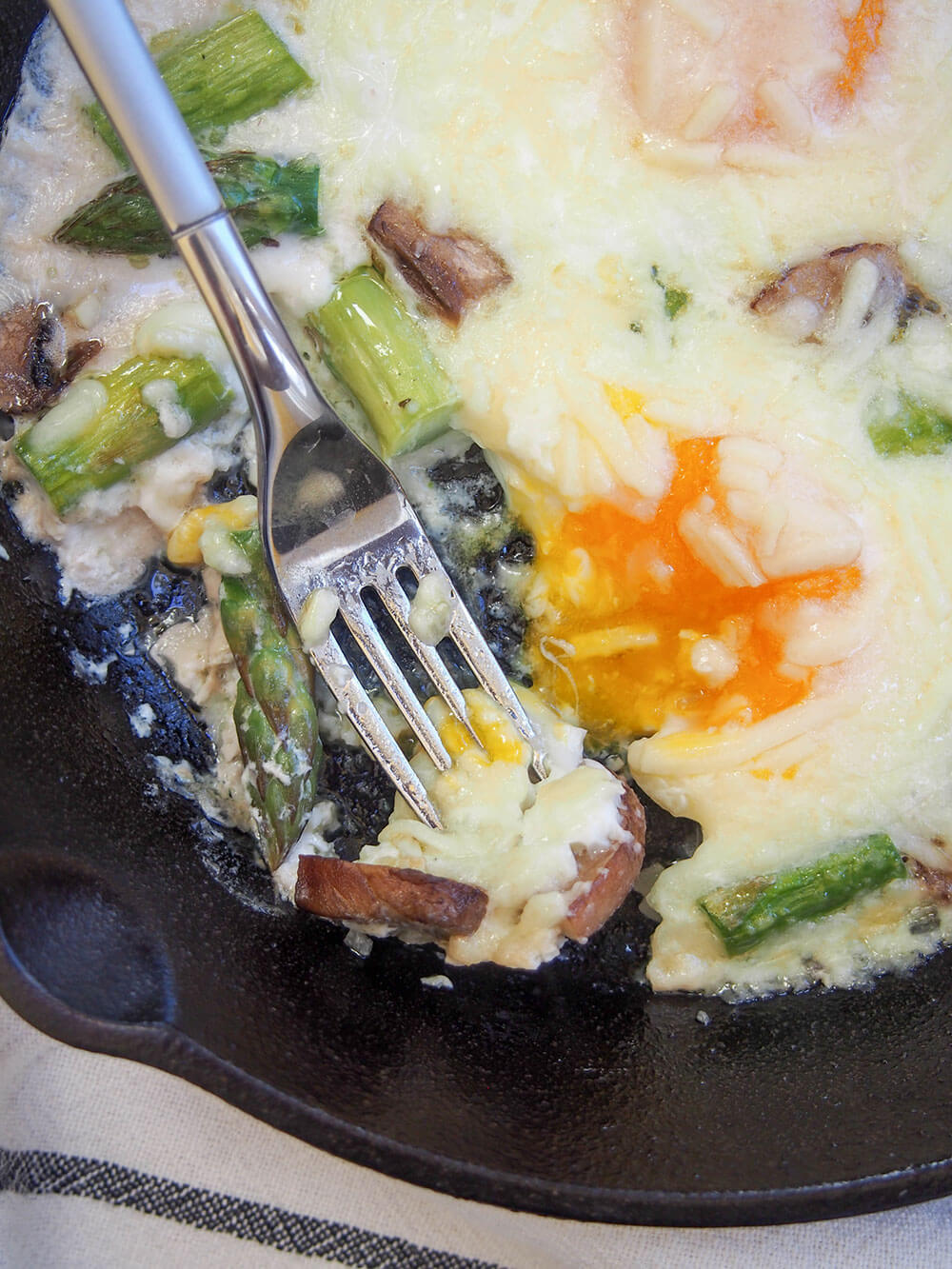 Baked Eggs With Mushrooms And Asparagus Caroline S Cooking