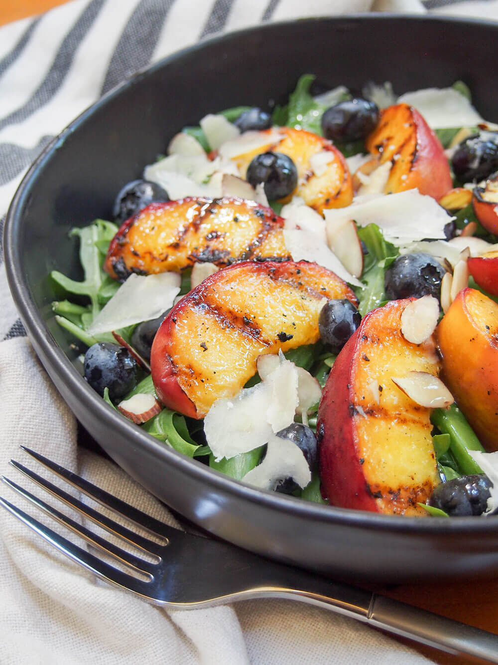 Grilled Peach summer salad