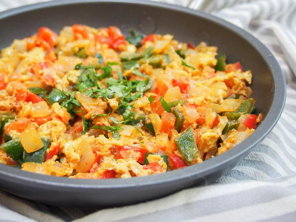 Menemen (Turkish scrambled eggs)