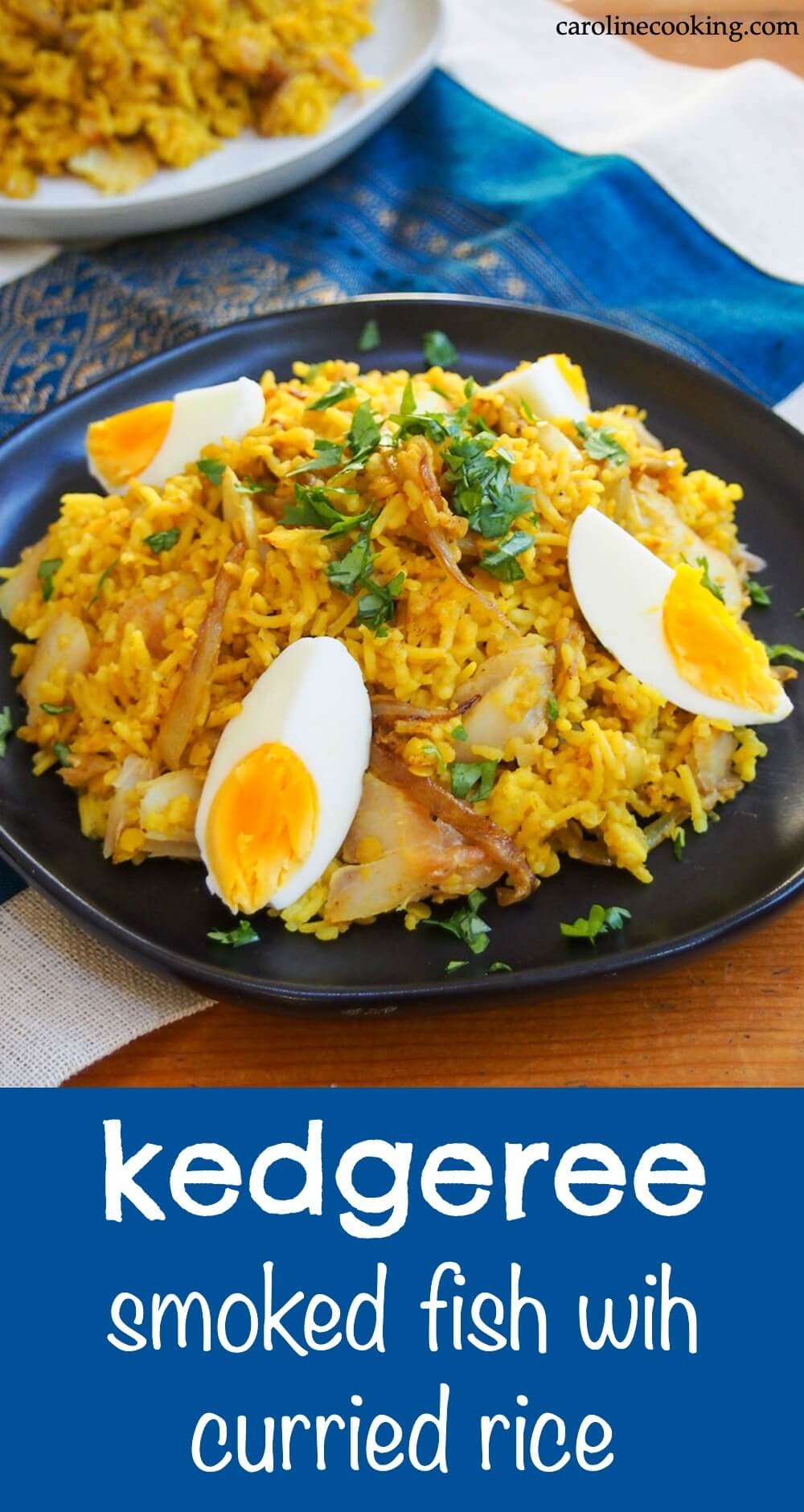 Kedgeree is a hearty and comforting mix of smoked fish and rice with curry flavors. It's a tasty dish that you could enjoy any time of day. #smokedfish #rice