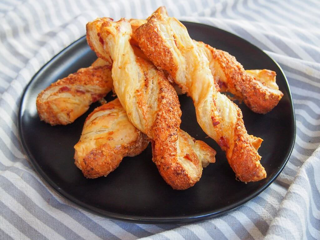 plate of chorizo cheese twists