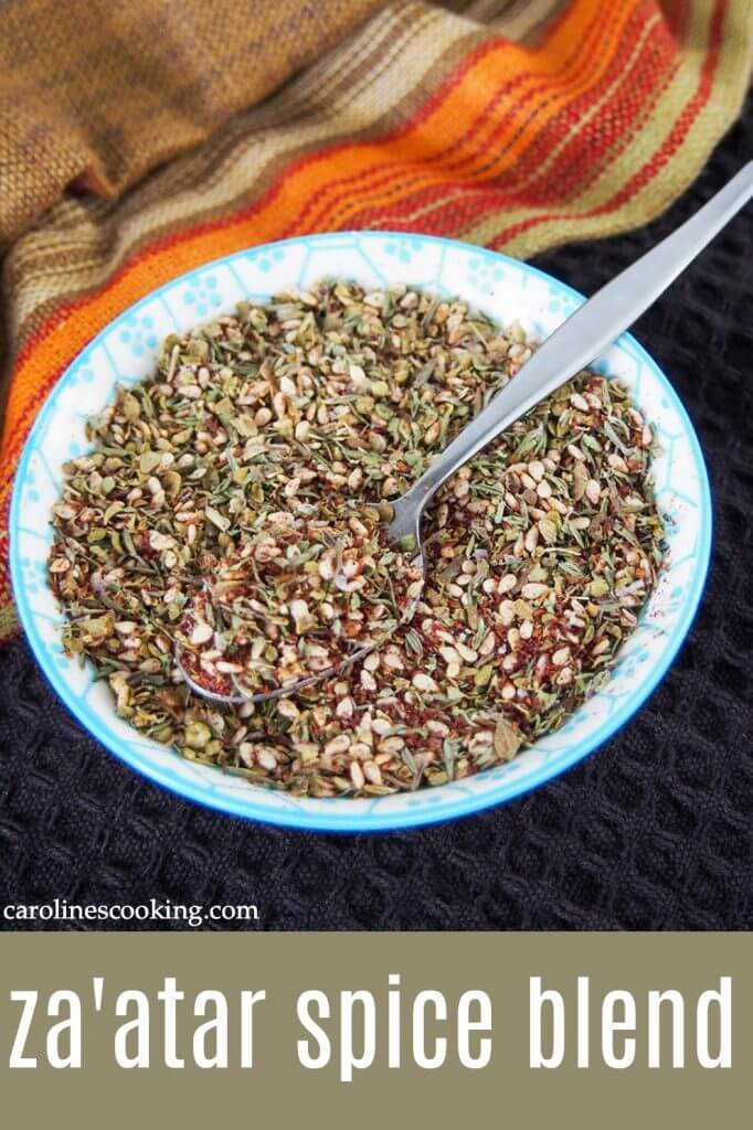 Za'atar spice blend is a popular and versatile mix from the Levant region that's also so easy to make. And once you've made some, you'll soon be adding it to everything! #middleeasternfood #spiceblend