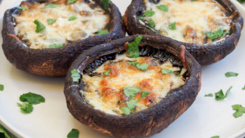 Baked Portobello Mushrooms Caroline S Cooking