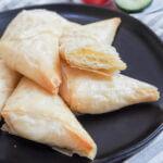 plate of tiropita, Greek cheese pastries