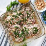 dish of za'atar chicken
