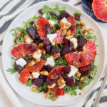 plate of beet and blood orange salad