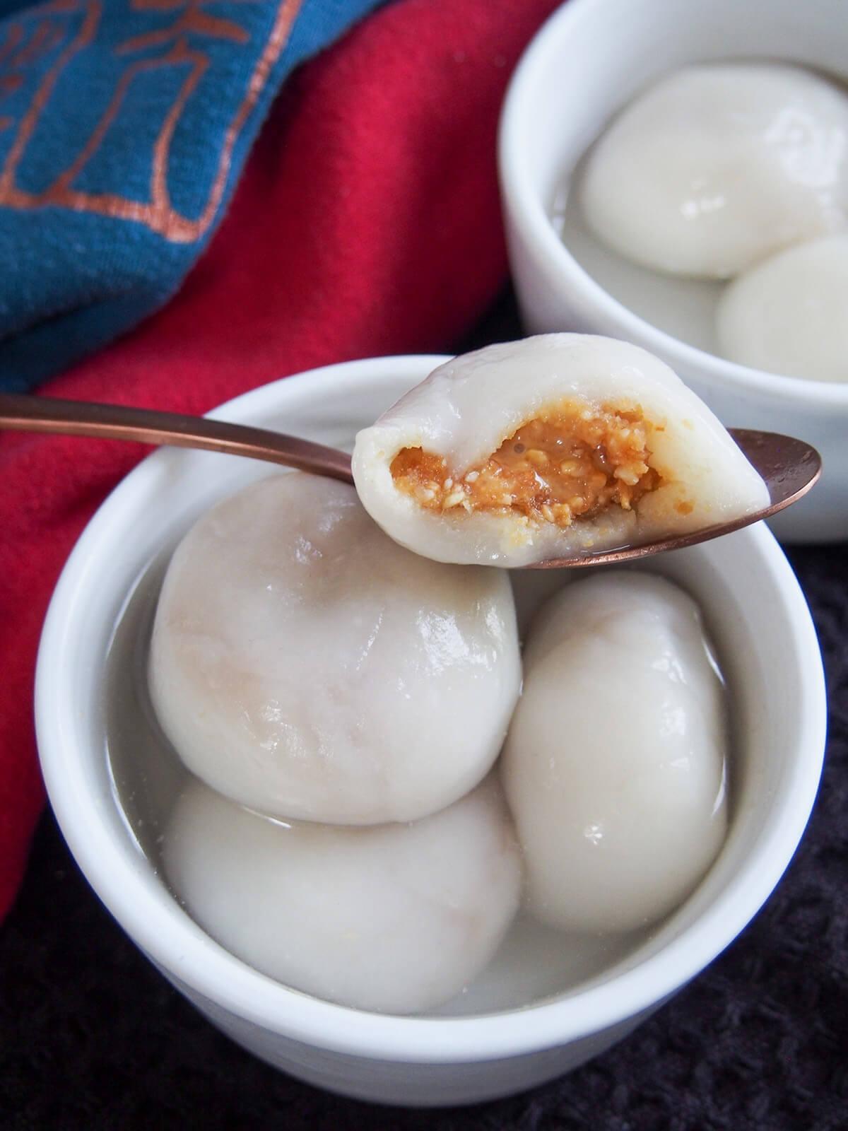Chinese Sweet Dumplings Tangyuan Caroline S Cooking