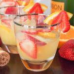glass of cava sangria