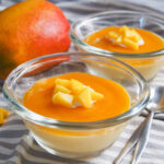 dishes of mango panna cotta