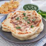 stack of peshwari naan on plate