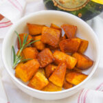 bowl of maple roasted buttercup squash